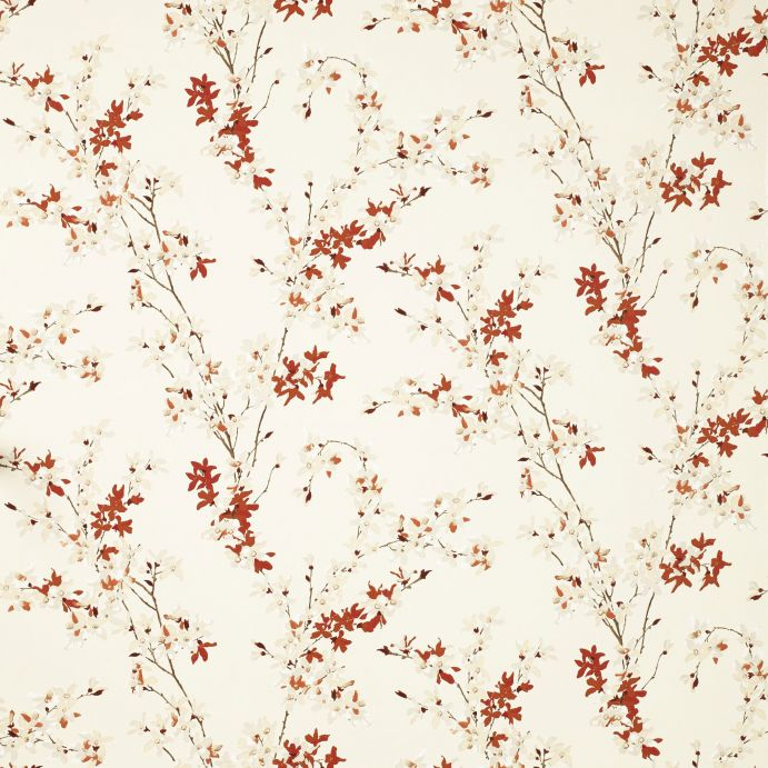 papel pintado de flores rojas de diseño natural