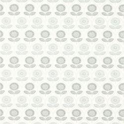 papel pintado de flores grises de estilo retro vintage