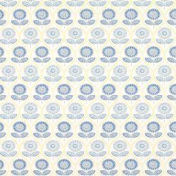 papel pintado de flores azules de estilo retro vintage