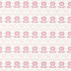 papel pintado de flores rosa de diseño retro vintage