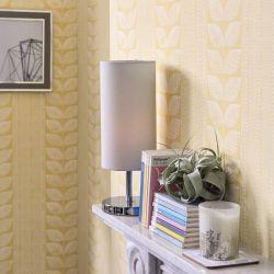 papel pintado de hojas vintage amarillo de diseño