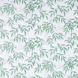 papel pintado de hojas verdes y flores sobre fondo grisaceo de diseño