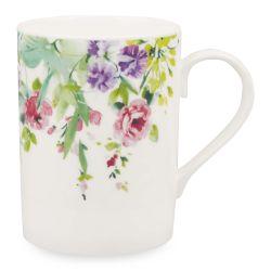 taza de desayuno estampada con flores de diseño
