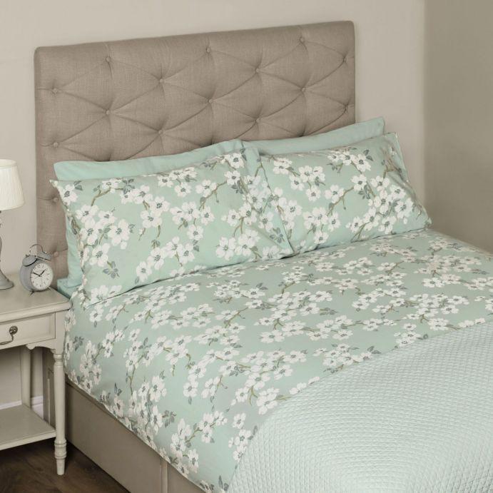 set de cama Iona azul verdoso (cama 150 cm)