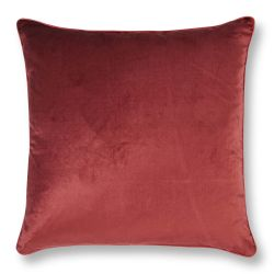 cojín de terciopelo rojo teja de diseño