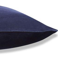 cojín de terciopelo azul oscuro de diseño