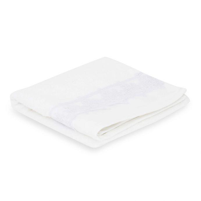 toallas blancas de algodón con cenefa de encaje clásico