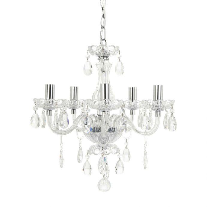 lámpara tipo araña de cristal con lágrimas de diseño