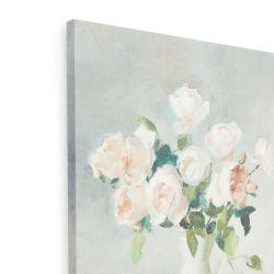 cuadro en lienzo con diseño de rosas en jarrón blanco de diseño