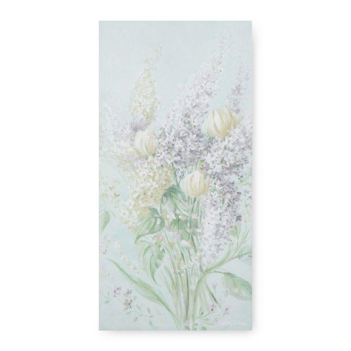 cuadro vertical de diseño floral