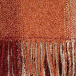 manta de lana de cuadros naranja tierra de diseño clásico