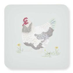 4 posavasos con gallo de diseño