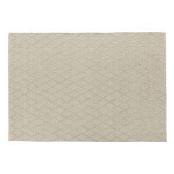 alfombra de diseño diamante en elegante gris plata