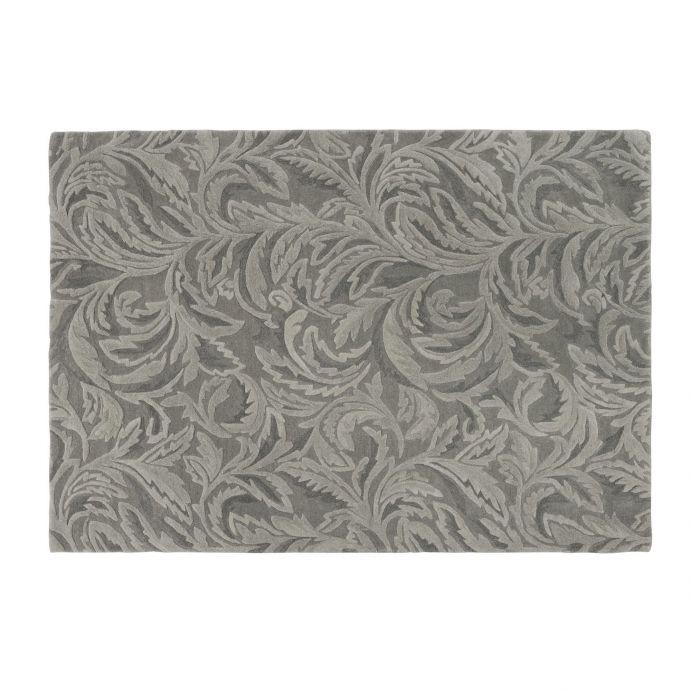 alfombra de diseño en relieve en color gris carbón pálido