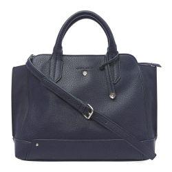bolso de mano azul marino de diseño elegante