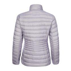 chaqueta plumas gris
