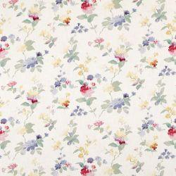 tela estampada con flores de colores de diseño