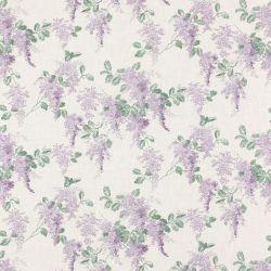 tela estampadas con preciosas flores moradas de diseño romántico