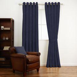 tela lisa de diseño azul oscuro