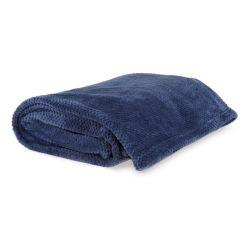 manta azul de franela