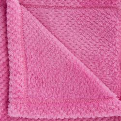manta rosa de franela