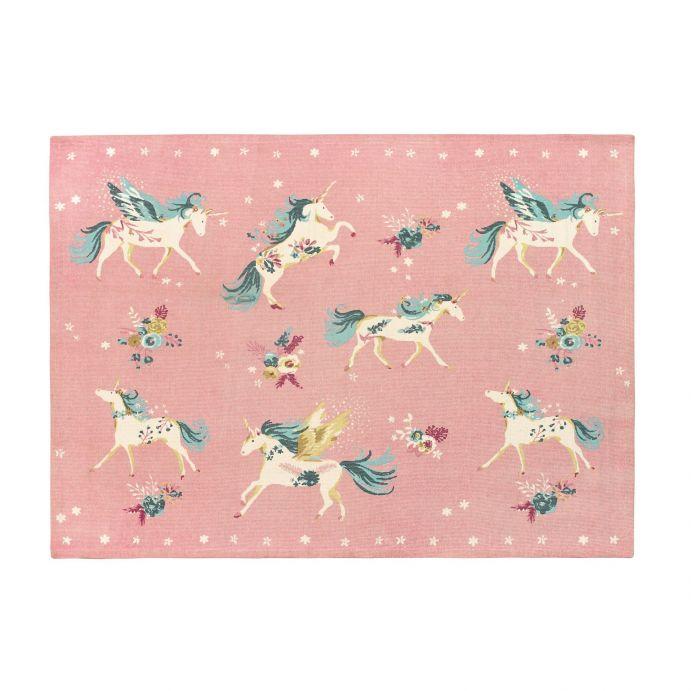 alfombra Unicorns rosa