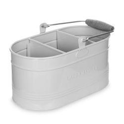 cesta metálica con asa de diseño