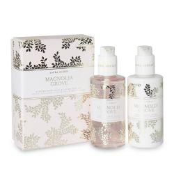 jabón y crema de manos con aroma a ylan ylang y gardenia blanca en envase de diseño