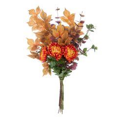 ramo de flores artificiales naranjas de diseño otoñal