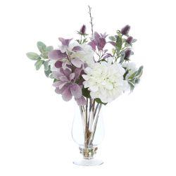 ramo de hortensias con jarrón flores artificiales de diseño