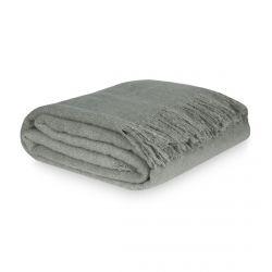 manta gris con flecos súper suave de diseño