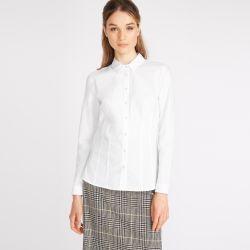 camisa blanca bordada de diseño