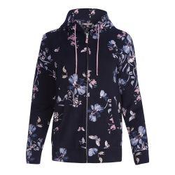 sudadera de flores con capucha y cremallera de diseño