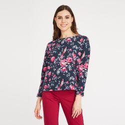 camiseta de flores azul de diseño