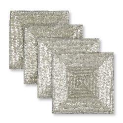 manteles plateados de diseño para decorar la mesa en navidad