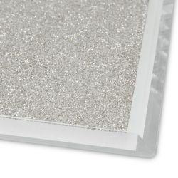 posavasos con purpurina plata de diseño ideal para navidad