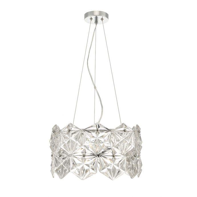 lámpara de techo de cristal de diseño hexagonal