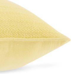 cojín liso texturizado amarillo de diseño