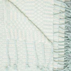 manta azul topacio con flecos texturizada de diseño
