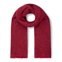 bufanda súper suave roja de diseño