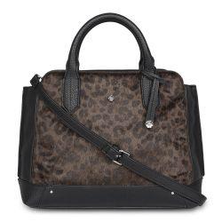 bolso de mano negro y leopardo de diseño