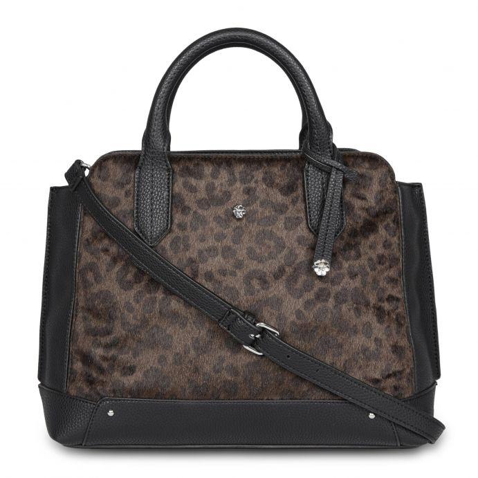 72ea5848d bolso de mano negro y leopardo de diseño