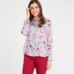 blusa con estampado de flores de diseño