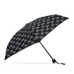 paraguas plegable negro con estampado de bicicletas