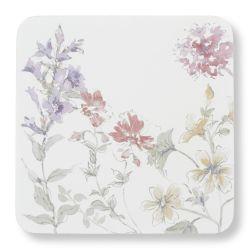 set de posavasos con diseño floral