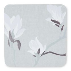 posavasos de corcho con diseño de magnolia gris