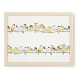 bandeja para portátil con cojín y diseño de pájaros