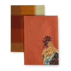 paños de cocina estampados con diseño de gallos