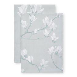 paños de cocina estampados con diseño de magnolias