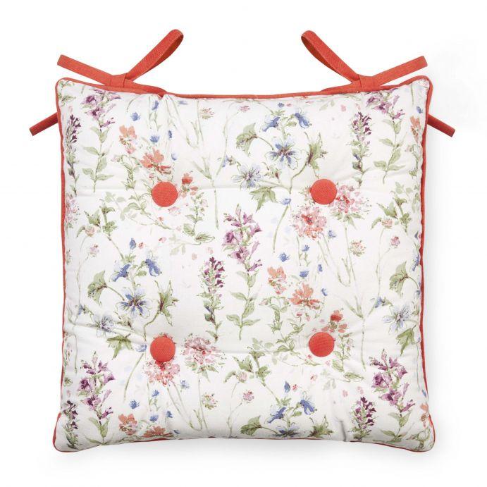 cojín para sillas estampado con flores de diseño